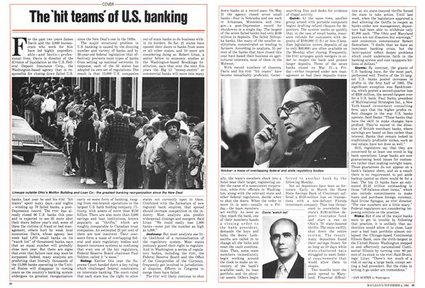 Article Preview: The 'hit teams' of U.S. banking, November 1985 | Maclean's