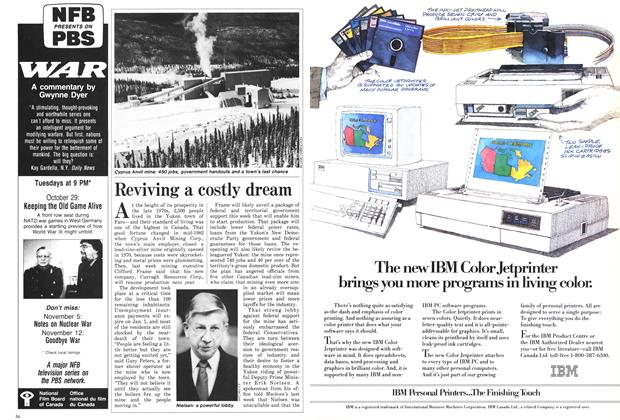 Article Preview: Reviving a costly dream, November 1985 | Maclean's
