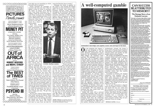 Article Preview: A well-computed gamble, November 1985 | Maclean's