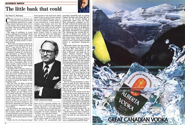 Article Preview: The little bank that could, November 1985 | Maclean's