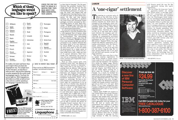 "Article Preview: A ""one-cigar' settlement, November 1985 