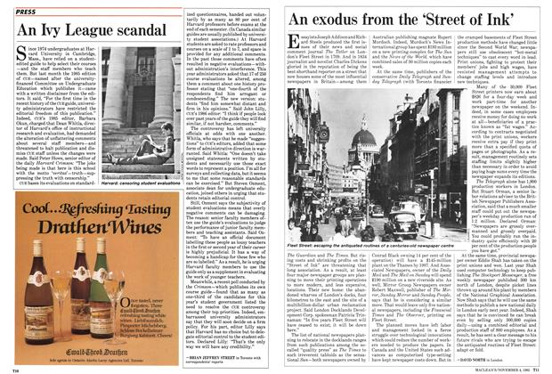 Article Preview: An exodus from the 'Street of Ink', November 1985 | Maclean's