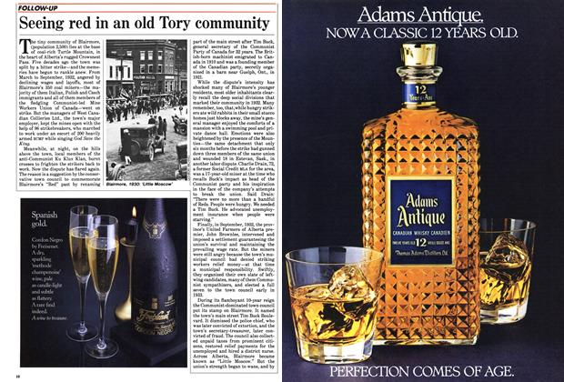 Article Preview: Seeing red in an old Tory community, November 1985 | Maclean's