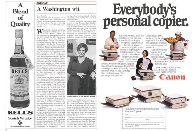 Article Preview: A Washington wit, November 1985 | Maclean's