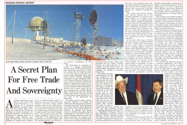 Article Preview: A Secret Plan For Free Trade And Sovereignty, November 1985 | Maclean's