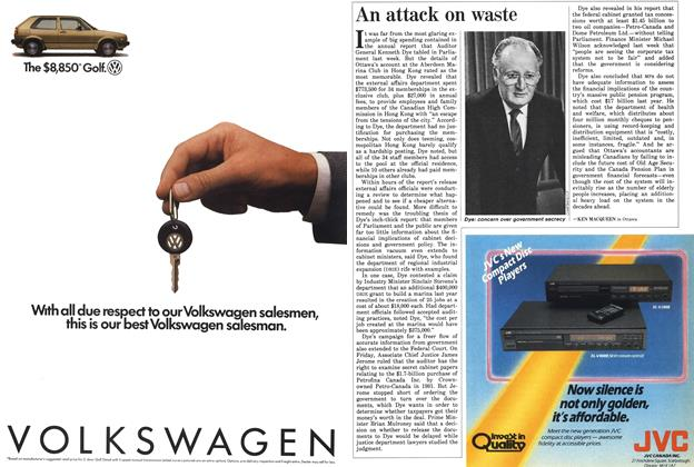 Article Preview: An attack on waste, November 1985 | Maclean's