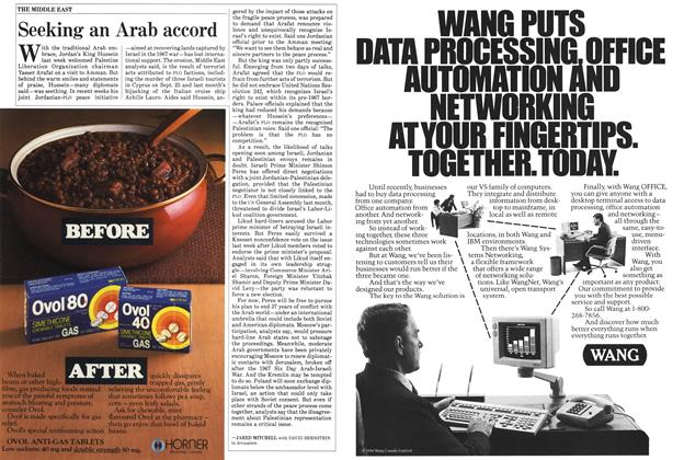 Article Preview: Seeking an Arab accord, November 1985 | Maclean's