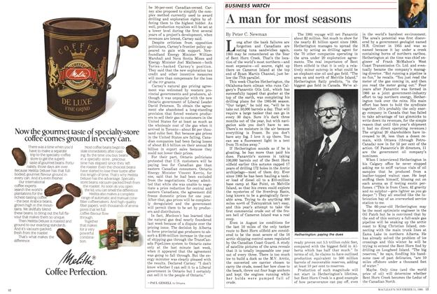 Article Preview: A man for most seasons, November 1985 | Maclean's