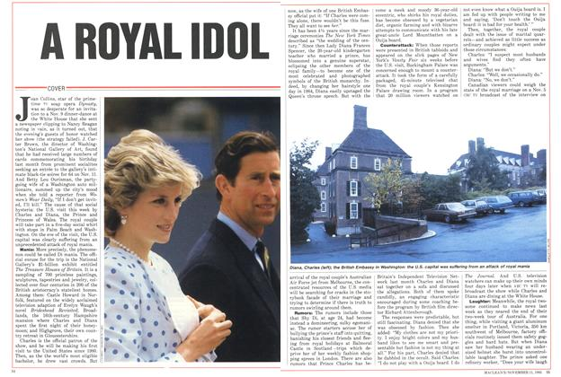 Article Preview: A ROYAL IDOL, November 1985 | Maclean's
