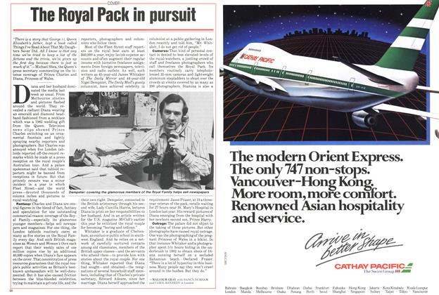Article Preview: The Royal Pack in pursuit, November 1985 | Maclean's