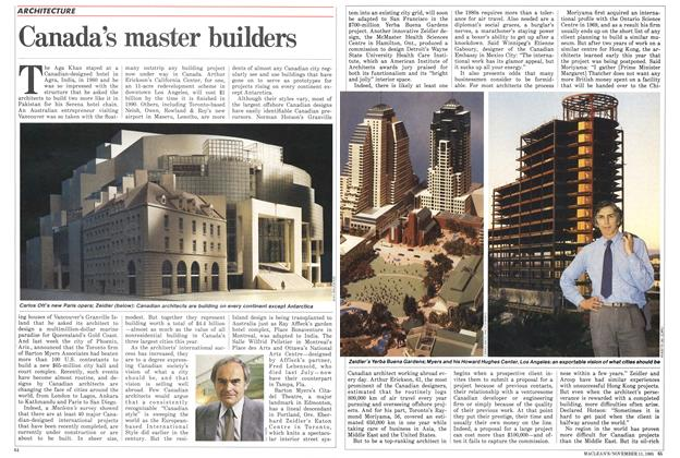 Article Preview: Canada's master builders, November 1985 | Maclean's