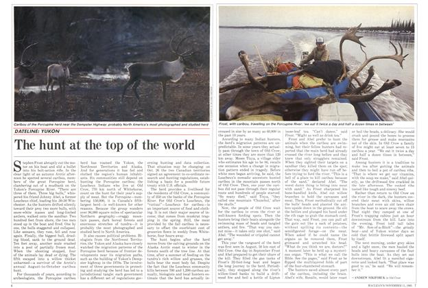 Article Preview: The hunt at the top of the world, November 1985 | Maclean's