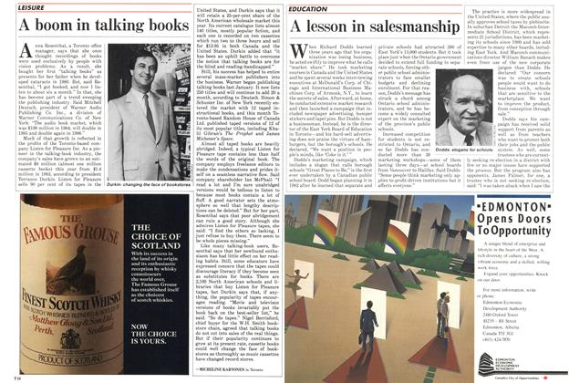 Article Preview: A boom in talking books, November 1985 | Maclean's