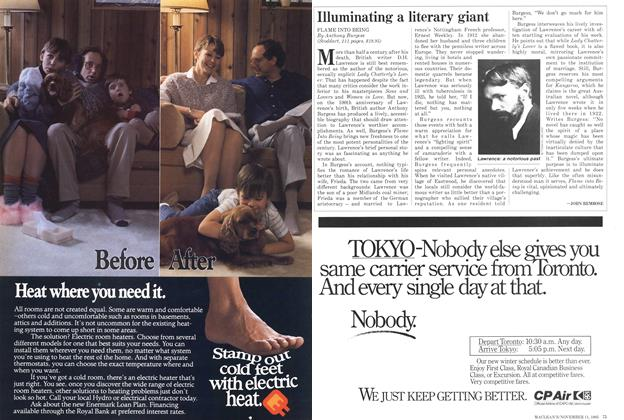 Article Preview: Illuminating a literary giant, November 1985   Maclean's
