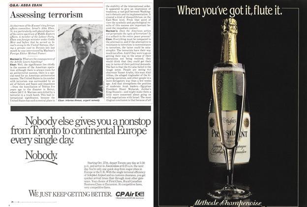 Article Preview: Assessing terrorism, November 1985 | Maclean's