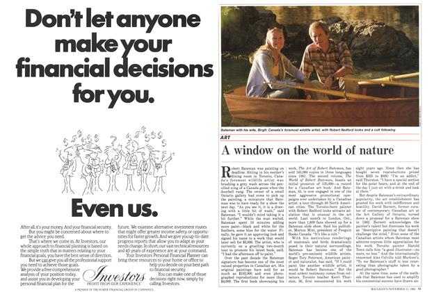 Article Preview: A window on the world of nature, November 1985 | Maclean's