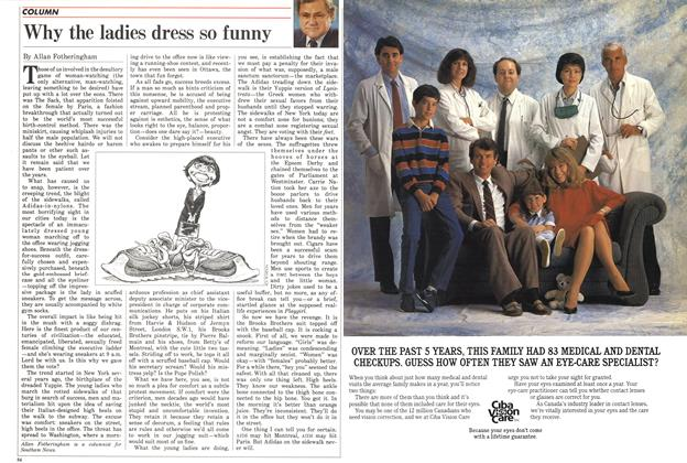 Article Preview: Why the ladies dress so funny, November 1985   Maclean's