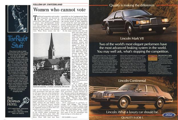 Article Preview: Women who cannot vote, November 1985 | Maclean's