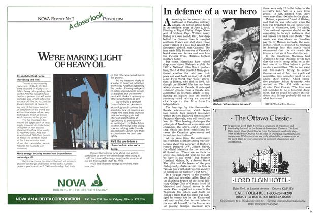 Article Preview: In defence of a war hero, November 1985   Maclean's