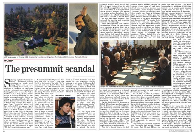 Article Preview: The presummit scandal, November 1985 | Maclean's