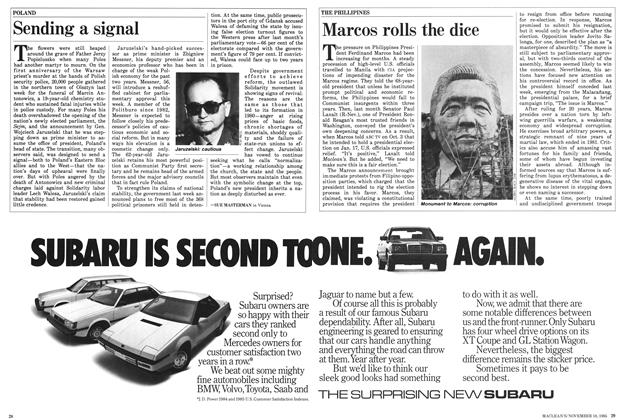 Article Preview: Marcos rolls the dice, November 1985 | Maclean's