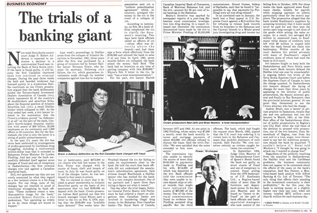 Article Preview: The trials of a banking giant, November 1985 | Maclean's
