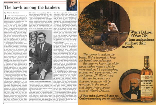 Article Preview: The hawk among the bankers, November 1985 | Maclean's
