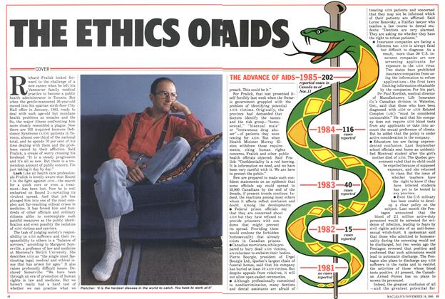 Article Preview: THE ETHICS OF AIDS, November 1985 | Maclean's