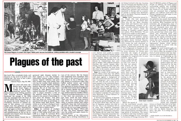 Article Preview: Plagues of the past, November 1985 | Maclean's