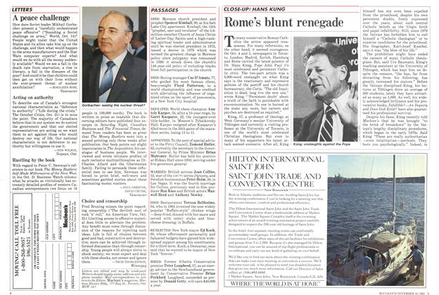 Article Preview: Rome's blunt renegade, November 1985 | Maclean's