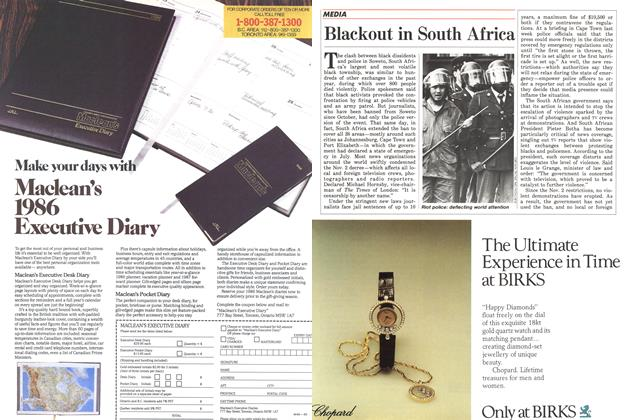 Article Preview: Blackout in South Africa, November 1985 | Maclean's