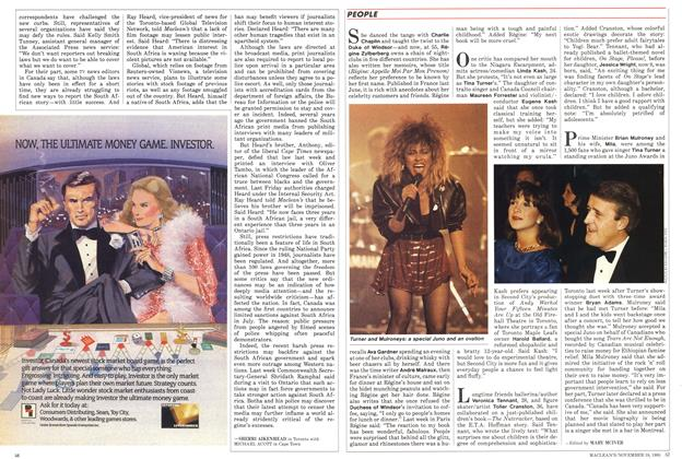 Article Preview: PEOPLE, November 1985 | Maclean's
