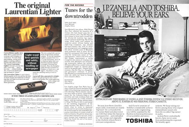 Article Preview: Tunes for the downtrodden, November 1985 | Maclean's