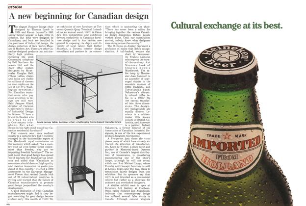 Article Preview: A new beginning for Canadian design, November 1985 | Maclean's