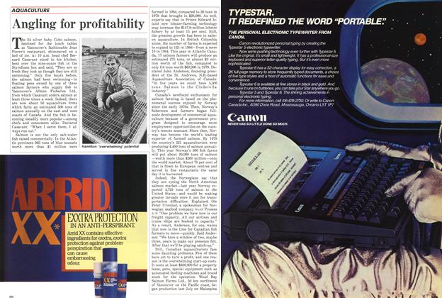Article Preview: Angling for profitability, November 1985 | Maclean's