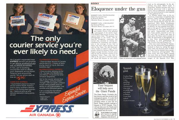 Article Preview: Eloquence under the gun, November 1985 | Maclean's