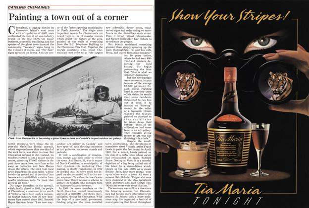 Article Preview: Painting a town out of a corner, November 1985 | Maclean's