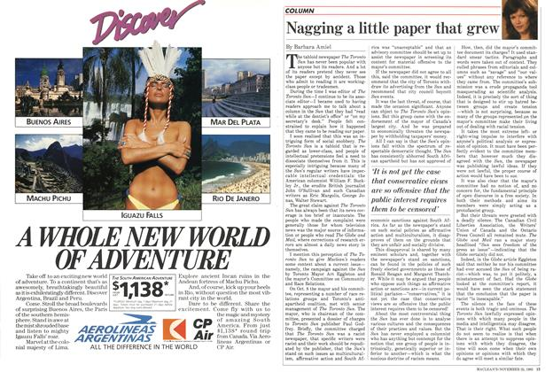 Article Preview: Nagging a little paper that grew, November 1985 | Maclean's