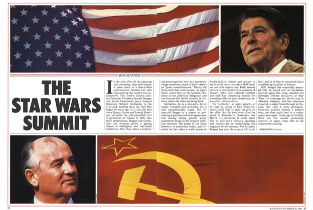 Article Preview: THE STAR WARS SUMMIT, November 1985 | Maclean's