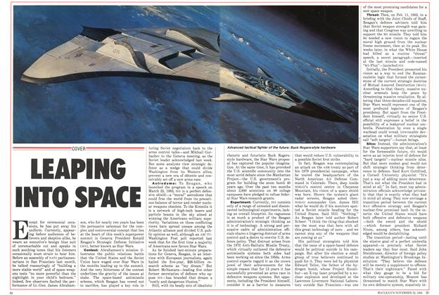 Article Preview: LEAPING INTO SPACE, November 1985 | Maclean's