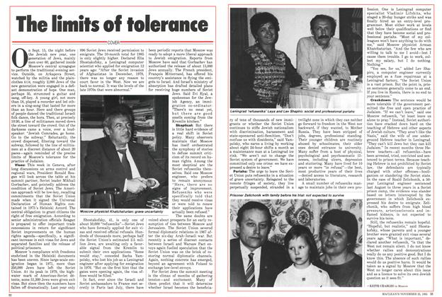 Article Preview: The limits of tolerance, November 1985 | Maclean's