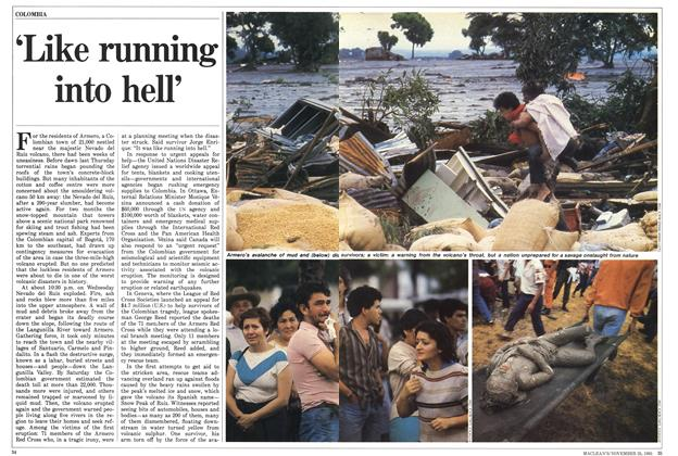 Article Preview: 'Like running into hell', November 1985 | Maclean's