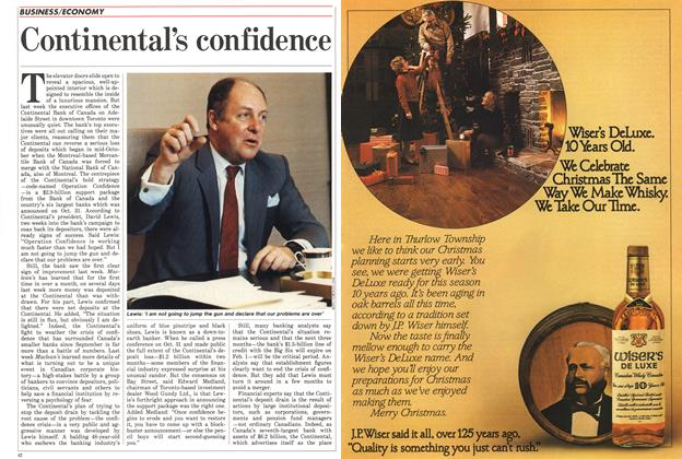Article Preview: Continental's confidence, November 1985 | Maclean's