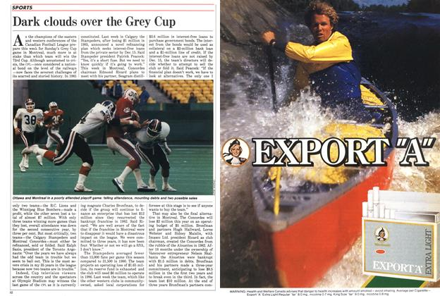 Article Preview: Dark clouds over the Grey Cup, November 1985 | Maclean's