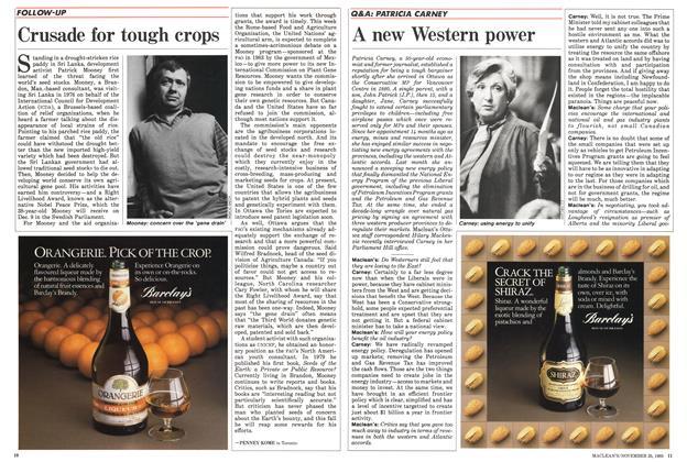 Article Preview: Crusade for tough crops, November 1985 | Maclean's