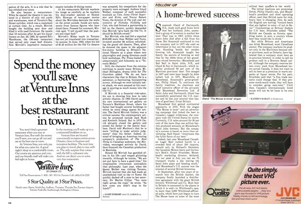Article Preview: A home-brewed success, December 1985 | Maclean's