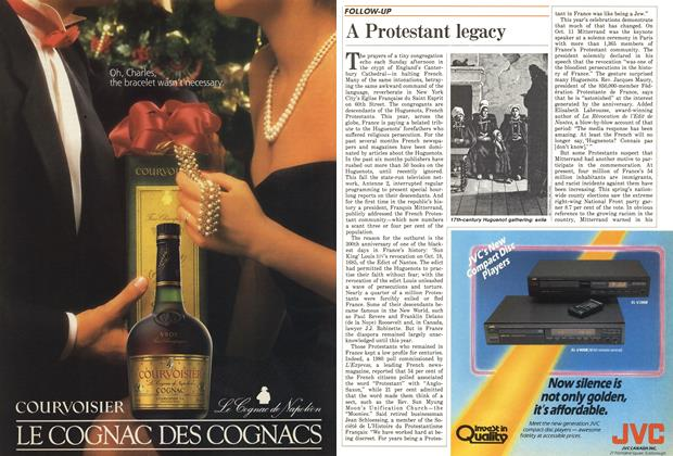 Article Preview: A Protestant legacy, December 1985 | Maclean's