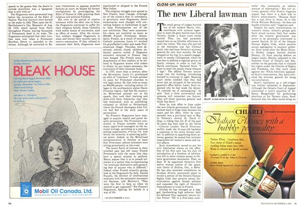 Article Preview: The new Liberal lawman, December 1985 | Maclean's