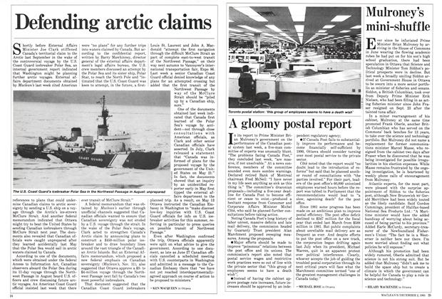 Article Preview: A gloomy postal report, December 1985 | Maclean's