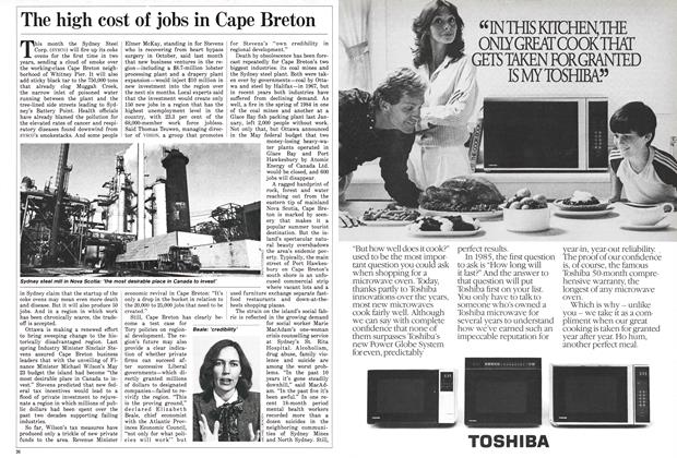 Article Preview: The high cost of jobs in Cape Breton, December 1985   Maclean's